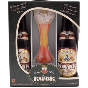 Bierpakket Kwak 2x33cl met Glas