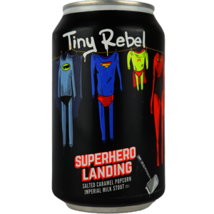 Tiny Rebel x Brewdog Supehero Landing Blik