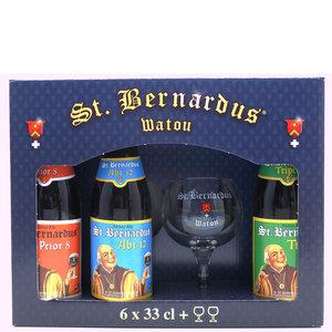 Bierpakket Sint Bernardus 6 flesjes met Glazen