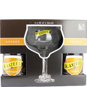 Bierpakket Kasteel met Glas
