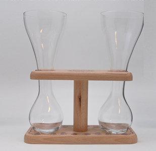 Kwak Koetsiersglas Duo-Houder inclusief glazen