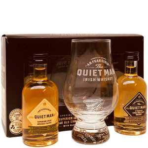 Quiet Man Whiskey 2x50ml met glas GV