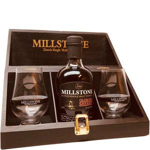 Millstone Single Malt 1x200ml met 2 glazen Geschenkkistje