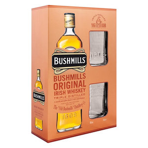 Bushmills Original 100cl Giftpack met glazen
