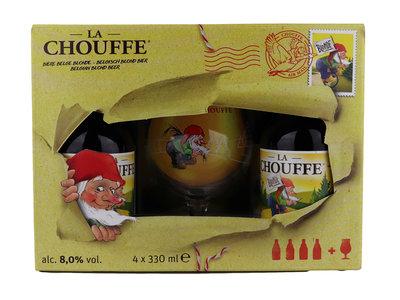 Bierpakket La Chouffe met Glas